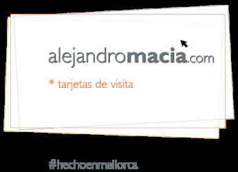 alejandro macià, tarjetas de visita, Mallorca