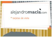 alejandro macià                                 tarjetas de visita, hecho en Mallorca, agencia de publicidad.